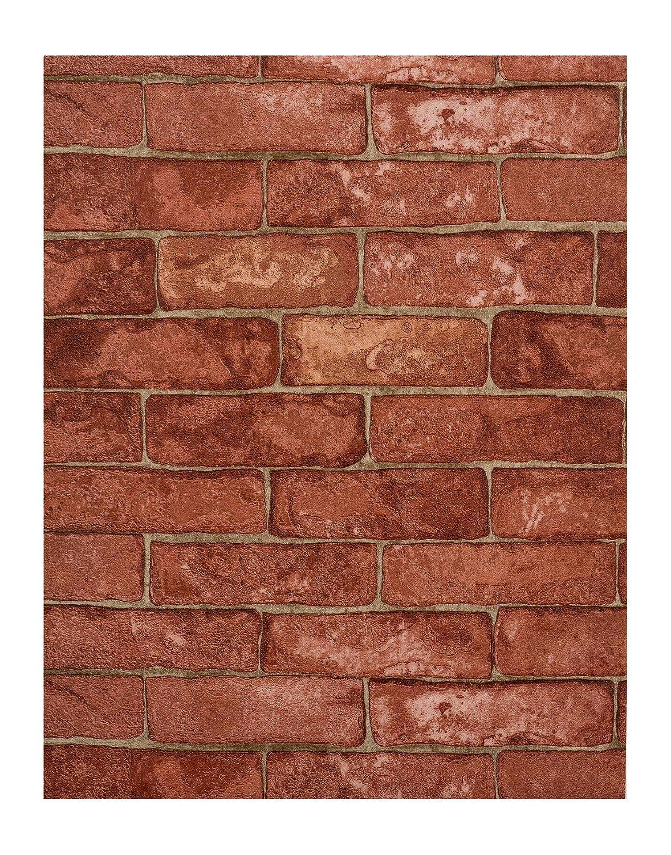 Amazon York Wallcoverings RN1032 Modern Rustic Brick Wallpaper Home Improvement