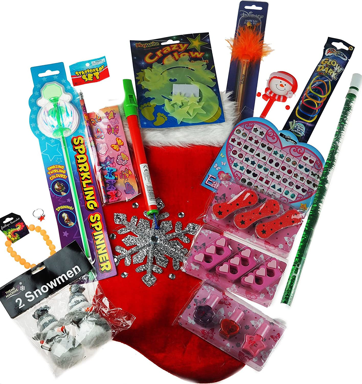Girls Pre Filled Christmas Stocking Stuffed With 15 Glam Beauty Toys And Treats! Blue Whale Gifts Limited