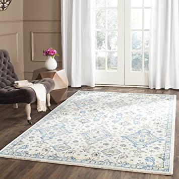 etta light gray blue floral area rug 8x10 canada evoke collection contemporary ivory