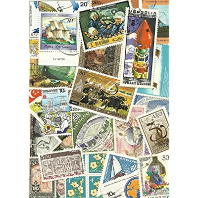 Packet of 500 Different Collectable Worldwide Stamps: Toys & Games