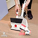 Wallybroom - Quick and Easy Wet or Dry Broom Dustpan - Clean Any Wet or Dry Mess; Replaces Paper Towels, Rags and Mop; Designed and Built Like Nothing Else.