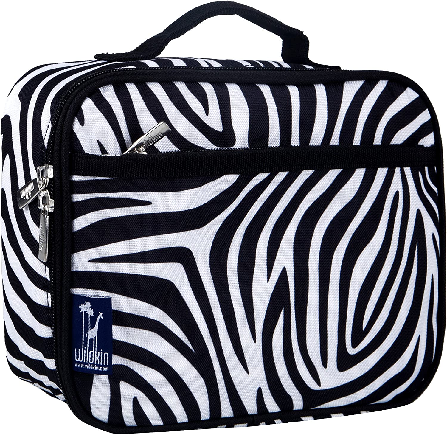 Wildkin Kids Insulated Lunch Box for Boys and Girls, Perfect Size for Packing Hot or Cold Snacks for School and Travel, Measures 9.75 x 7.5 x 3.25 Inches, Mom's Choice Award Winner (Zebra)