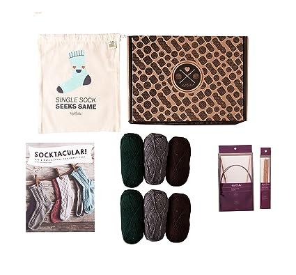 Amazon Knit Picks Sock Starter Knitting Kit 6 Balls Merino