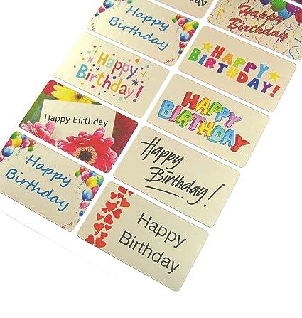 Amazon Minilabel Happy Birthday Greeting Stickers Silver Self