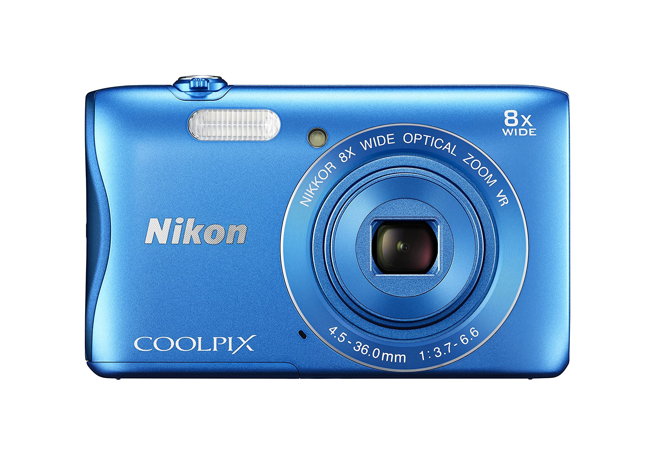Nikon Coolpix S3700 20.1mp Ccd, 8x Zoom Blue Photo - nikon - ebay.com