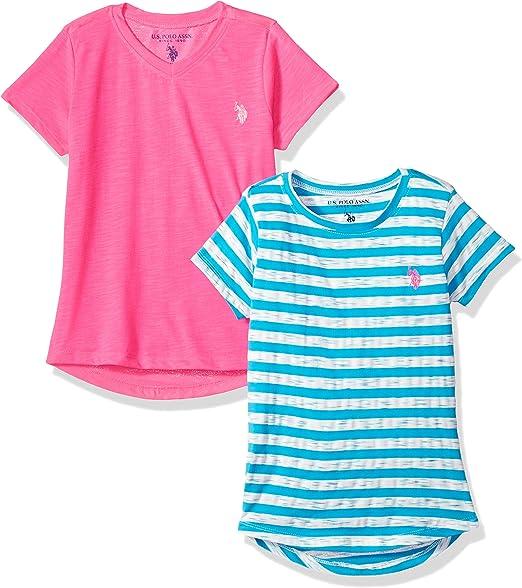 Polo Assn U.S Girls 2 Pack T-Shirt