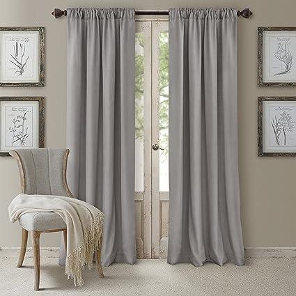 3 panel window curtains bay window elrene home fashions 026865721850 3in1 blackout energy efficient lined rod pocket window amazoncom