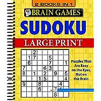 Brain Games - 2 Books in 1 - Sudoku (Large Print)