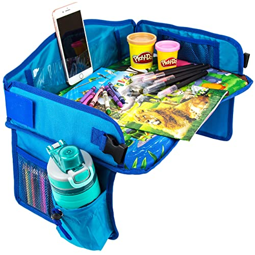 Kids Travel Tray with Coloring Activity Set by BO Innovation