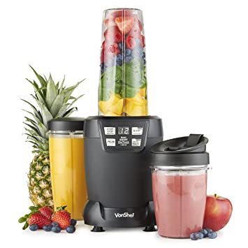 half off 98408 09f16 VonShef 1200W UltraBlend Pro Smoothie Maker  Powerful Digital Personal  Food Blender - with Turbo, Pulse  Timer Functions Amazon.co.uk Kitchen   Home