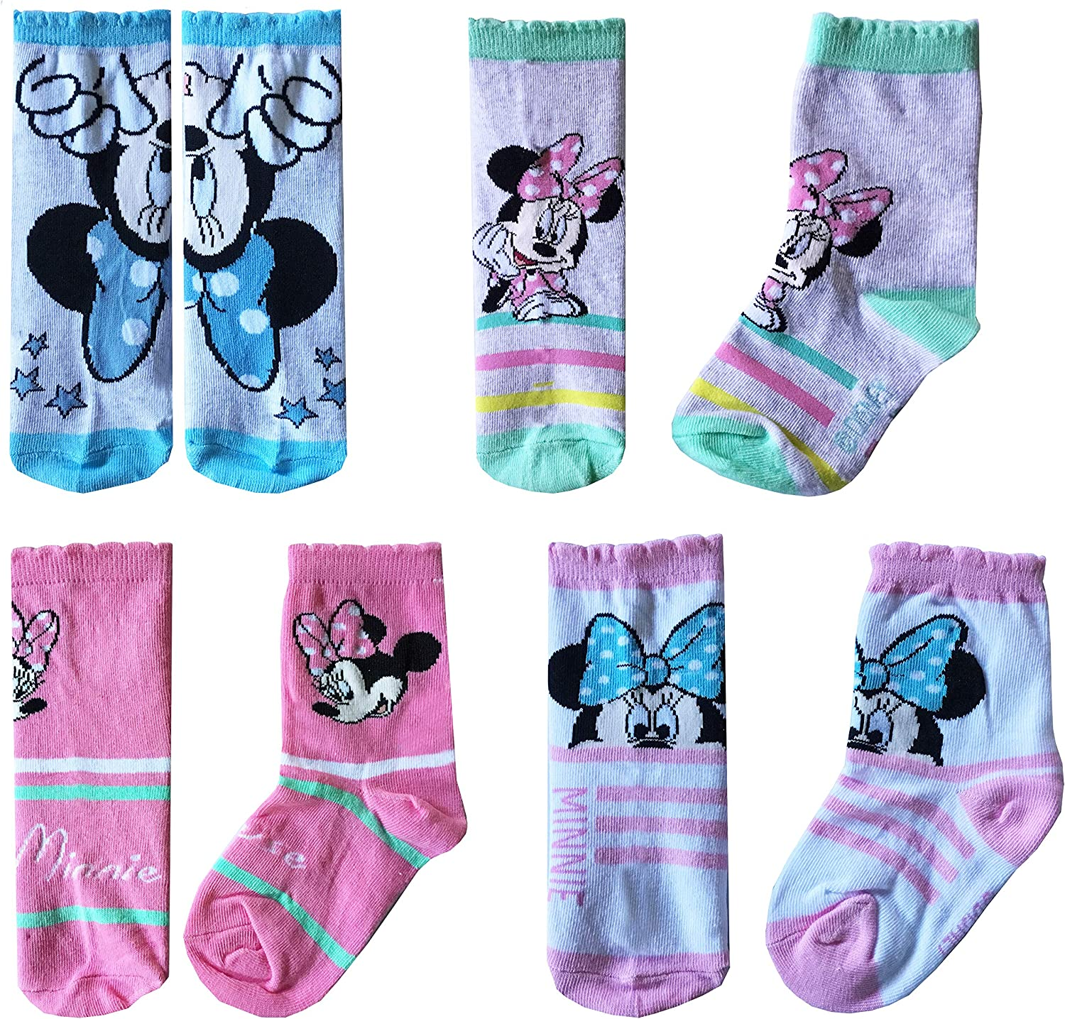 Disney Mickey Mouse Character Boys Ankle//Standard Crew Length Socks Cotton Rich Set 3-Pack 6 Child 2 UK Size