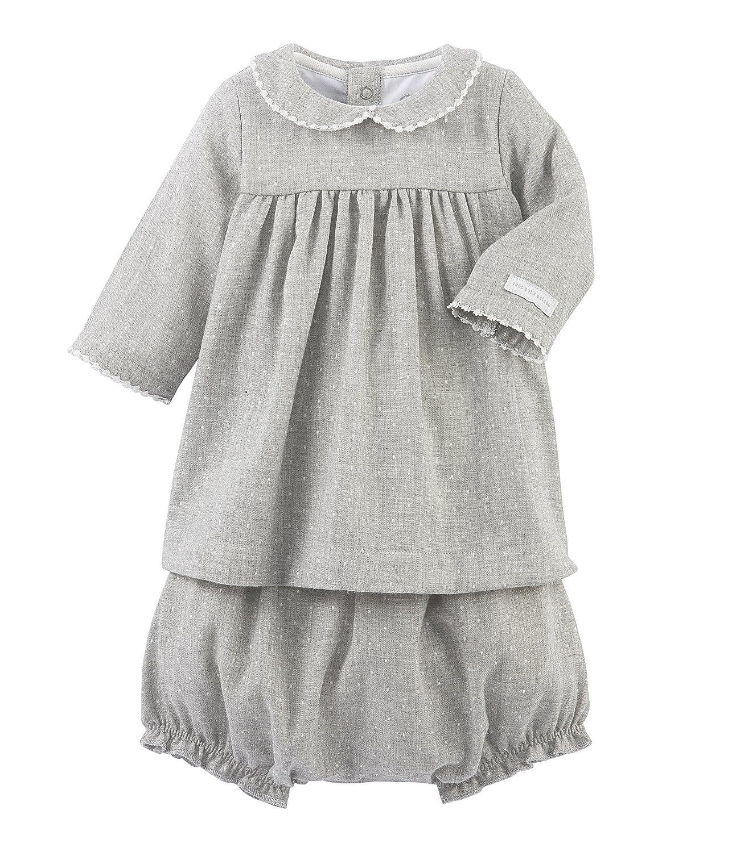 Petit Bateau Baby - Mädchen Bekleidungsset Robe ML + Bloomer