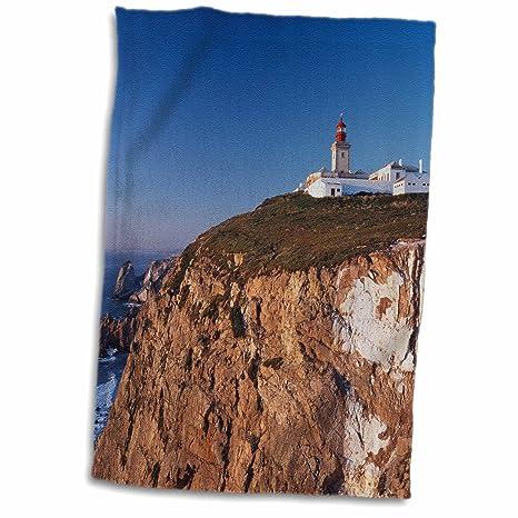3dRose Portugal, Distrito de Liso, Estoril, Lighthouse on Cliff Toalla, Blanco,