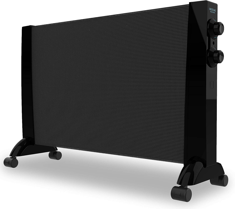 Cecotec Placa Radiante de Mica Ready Warm 3000 Now. Ruedas omnidireccionales, 3 Modos, Termostato Regulable, Sistema de Protección sobrecalentamiento, 2400 W