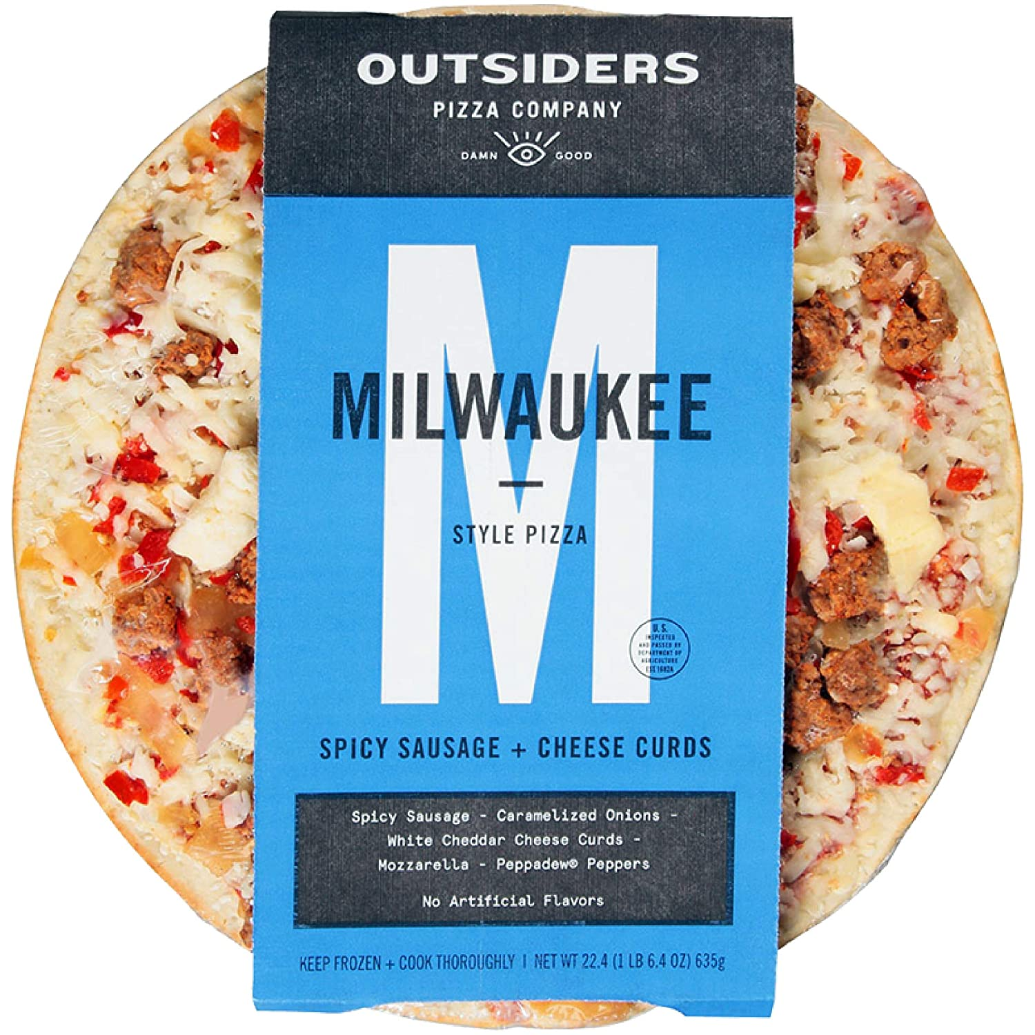 Outsider\'s Pizza, Spicy Sausage + Cheese Curds Milwaukee Style Pizza ...