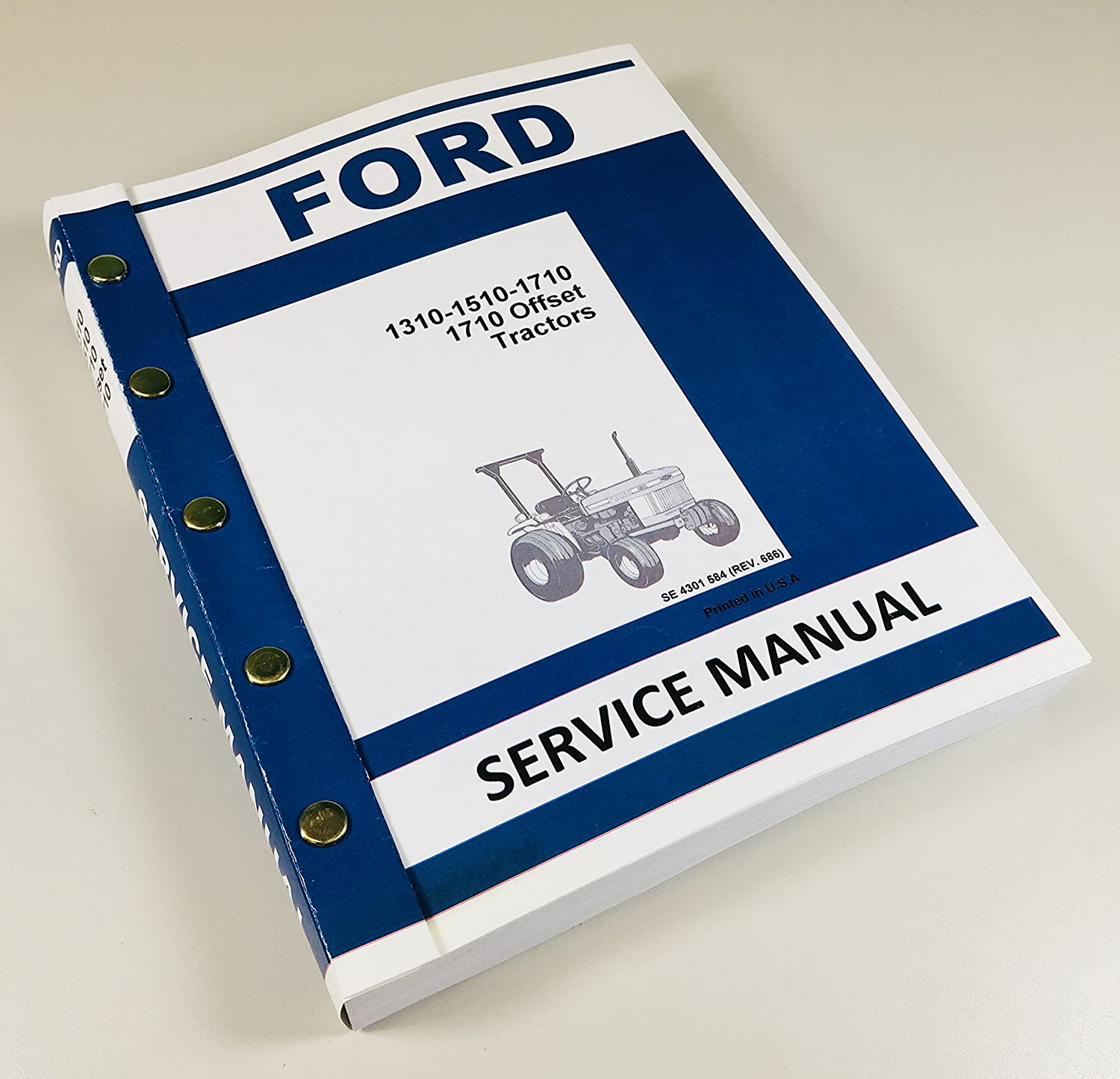 Amazon.com: Ford 1310 1510 1710 Tractor Service Repair Shop Manual  Technical Overhaul Book: Industrial & Scientific