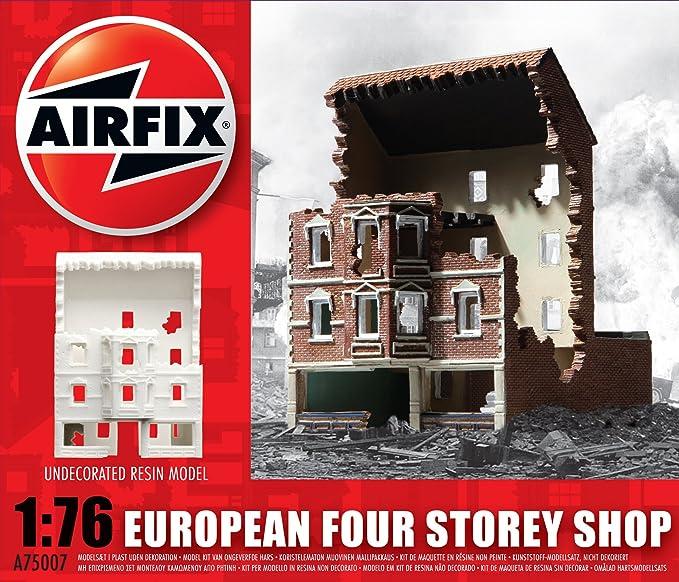 Amazon.com: Airfix 1:76 European Four Story Shop: Toys & Games