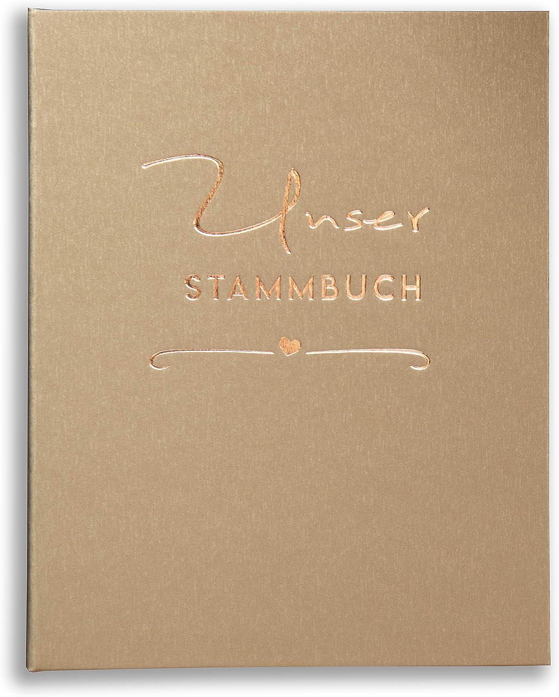 11 Prospekth/üllen A4 Stammbuch Stammbuch der Familie Wonalia Gold Kupfer Herz Standesamt incl