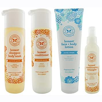 Amazon Com The Honest Company Shampoo And Body Wash Conditioner Face And Body Lotion And Conditioning Detangler Beauty