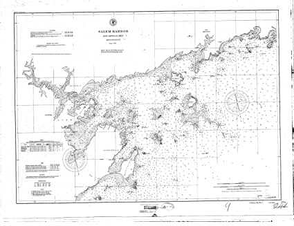 Amazoncom 8 x 12 inch 1897 US old nautical map drawing chart of