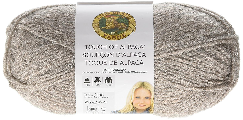 Amazon.com: Lion Brand Yarn 674-123 Touch of Alpaca, Taupe