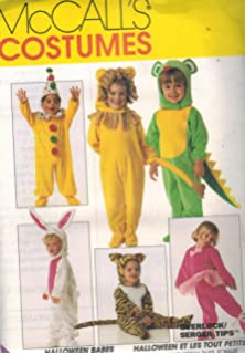 7853 mccalls sewing pattern uncut girls boys child halloween costume clown bunny lion tiger mouse santa