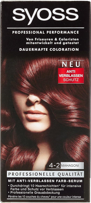 SYOSS Classic 4-2 coloración del cabello Borgoña - Coloración ...