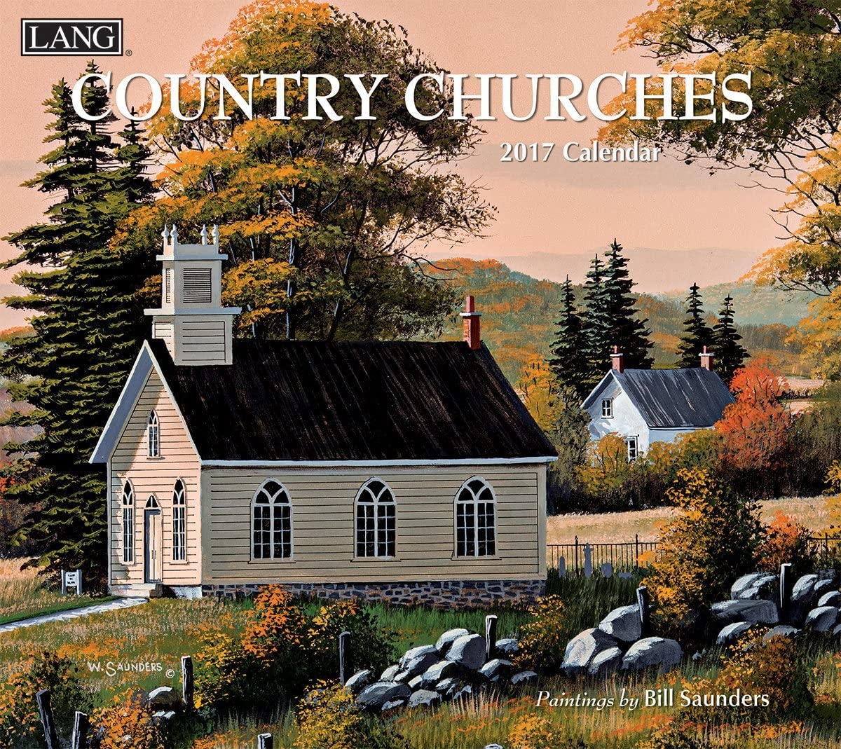 Lang 2017 Country Churches Wall Calendar, 13.375 x 24 inches (17991001904)