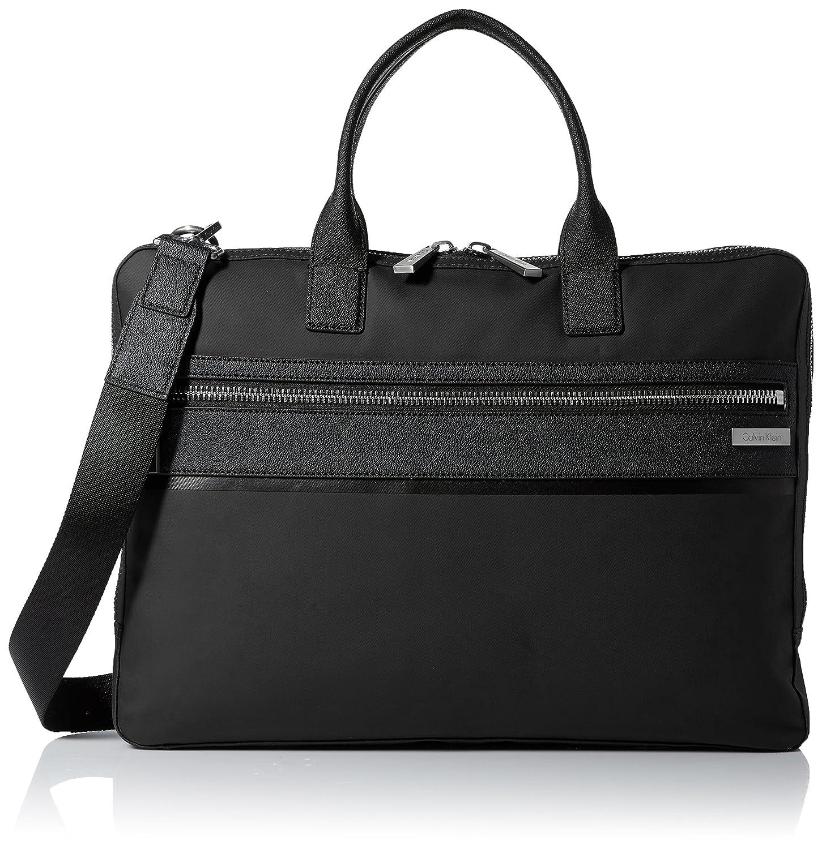 e231da7ef27c Amazon.com: Calvin Klein Men's Nylon with Saffiano Trim Slim Attache ...