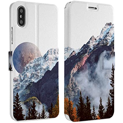 Amazon Com Wonder Wild Foggy Mountains Iphone Wallet Case X