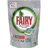 Fairy Platinum Dishwasher Tablets Regular, 50 Tablets