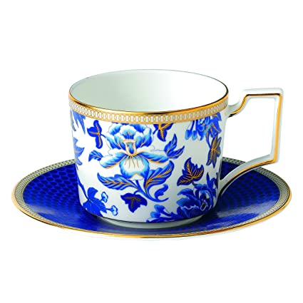 6246ba305d3 Image Unavailable. Image not available for. Color  Wedgwood Hibiscus Teacup  and Saucer