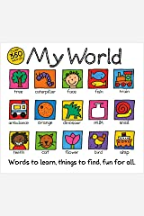 My World: A hand-drawn book with 350 words to learn, things to count, lots to find (English Edition) Edición Kindle