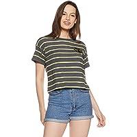 DJ&C By fbb Women's Striped Regular Fit T-Shirt