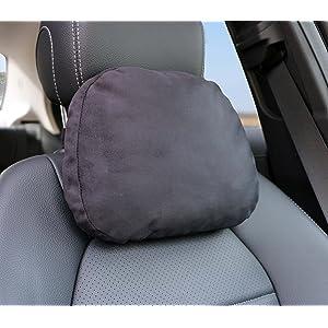 Cojín suave para automóvil – Cojín lumbar afelpado de soporte de asiento para descanso de cabeza y cuello