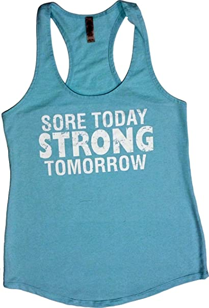 eaf3836f52 Orange Arrow Womens Workout Tank Tops - Sore Today Strong Tomorrow - Zumba Racerback  Clothes at Amazon Women's Clothing store: