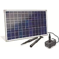 Hausmarke 101018 - Equipo solar para estanque (25 W, 1600 l/h, capacidad de extracción de 2,3 m, altura de extracción)