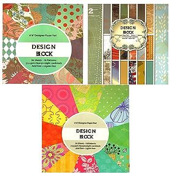 Bastelpapier Vintage 3 x vintage scrapbooking papier motivblock designpapier