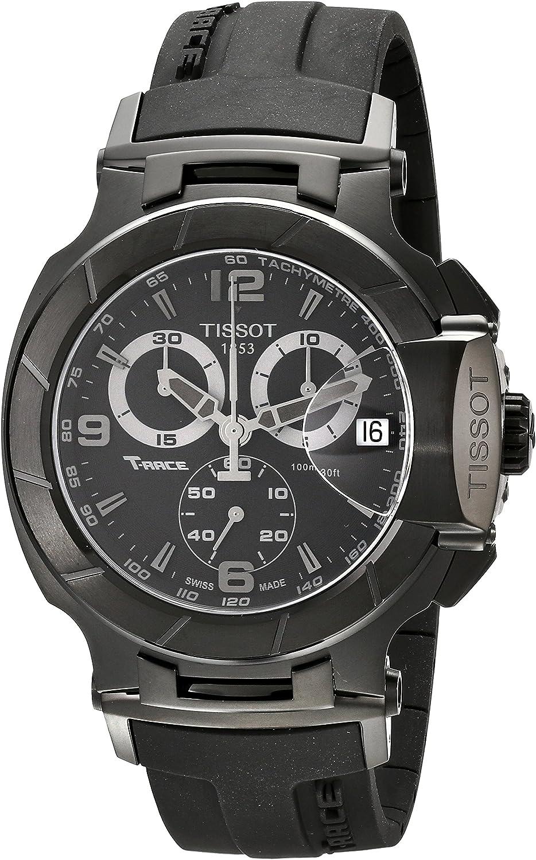Tissot T048417370 - Reloj de Caballero de Cuarzo, Correa de Goma Color Negro