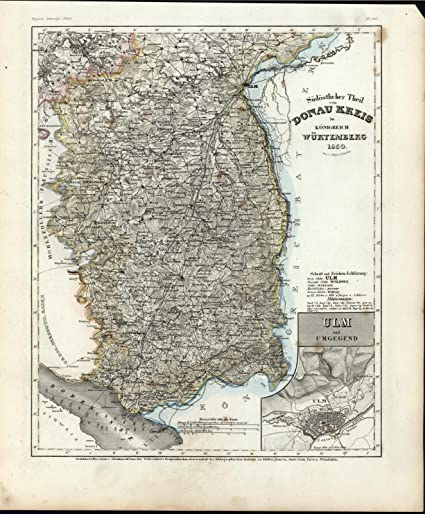 Amazon Com Sudostlicher Donau Kreis Wurtemberg Germany Ulm C 1850