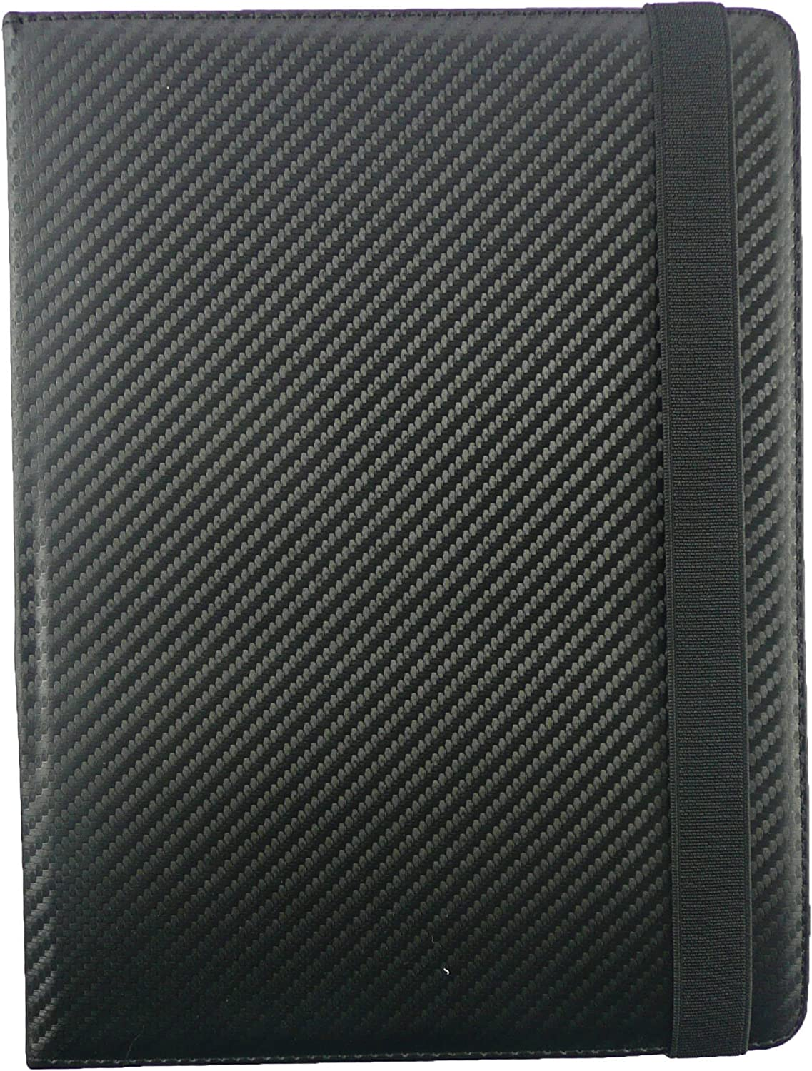 Tesco Hudl 2 8.3 Inch Wi-Fi Tablet Universal Range Emartbuy/® Black Dual Function Stylus 8-9 Inch Black Carbon PU Leather Multi Angle Executive Folio Wallet Case Cover With Card Slots