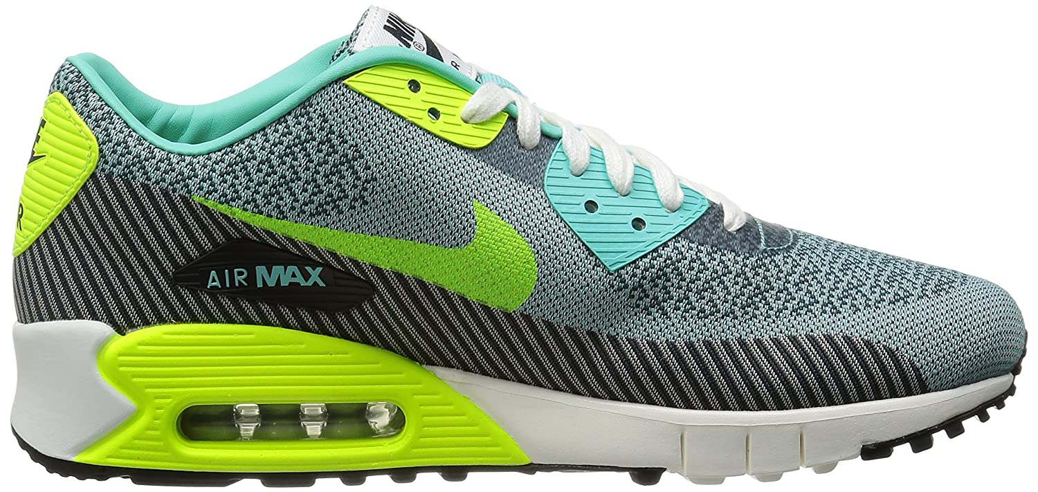 purchase cheap 5b1df 28371 Nike Mens Air Max 90 Jacquard Running Shoes Hyper Turquoise   Volt-Ivory- Anthracite 12 D(M) US  Buy Online at Low Prices in India - Amazon.in