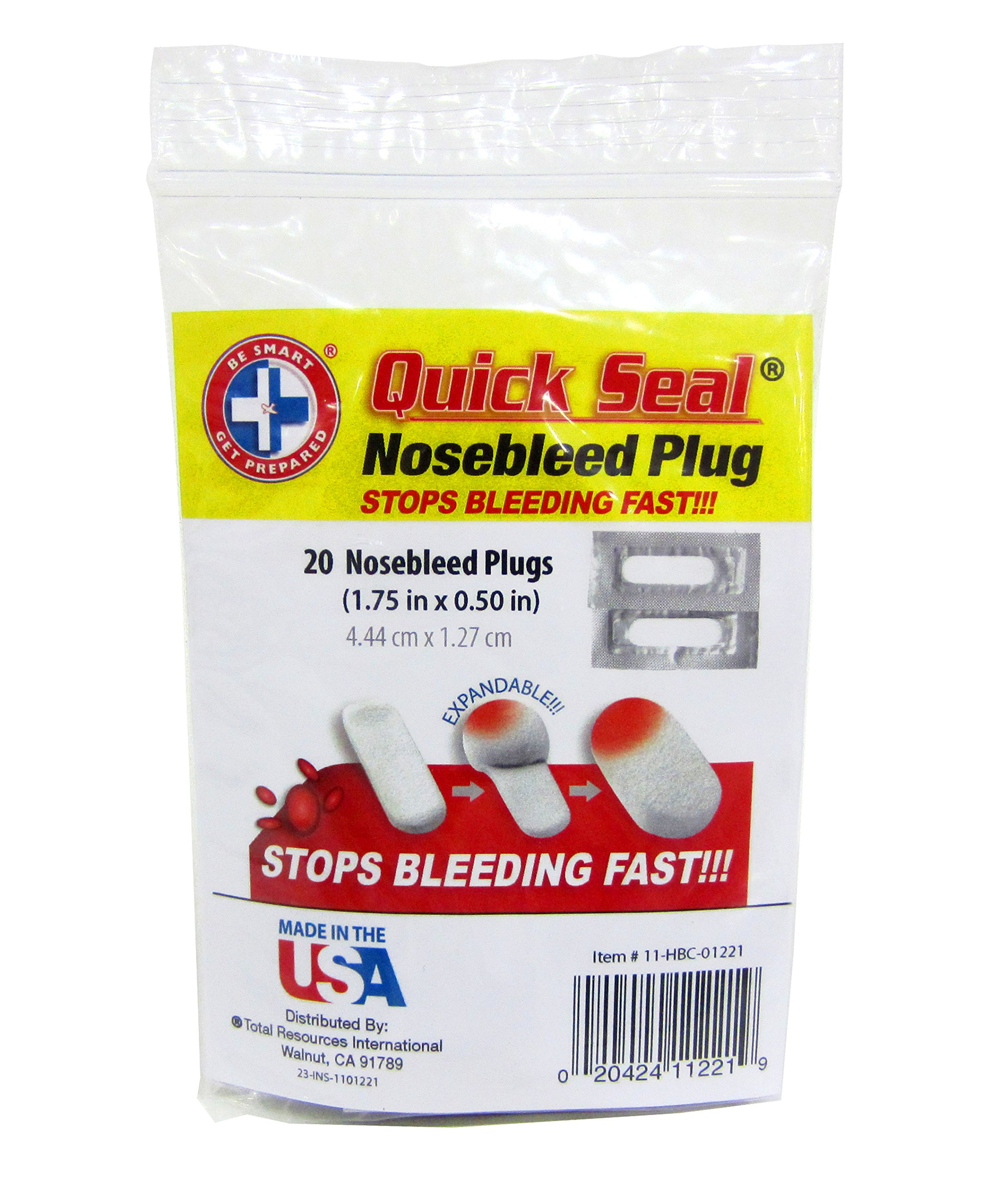 Be Smart Get Prepared Quick Seal Nosebleed Plugs. Stops Bleeding Fast, Non-Stick and Easy to Remove. (20 Plugs Included). by Be Smart Get Prepared (Image #3)
