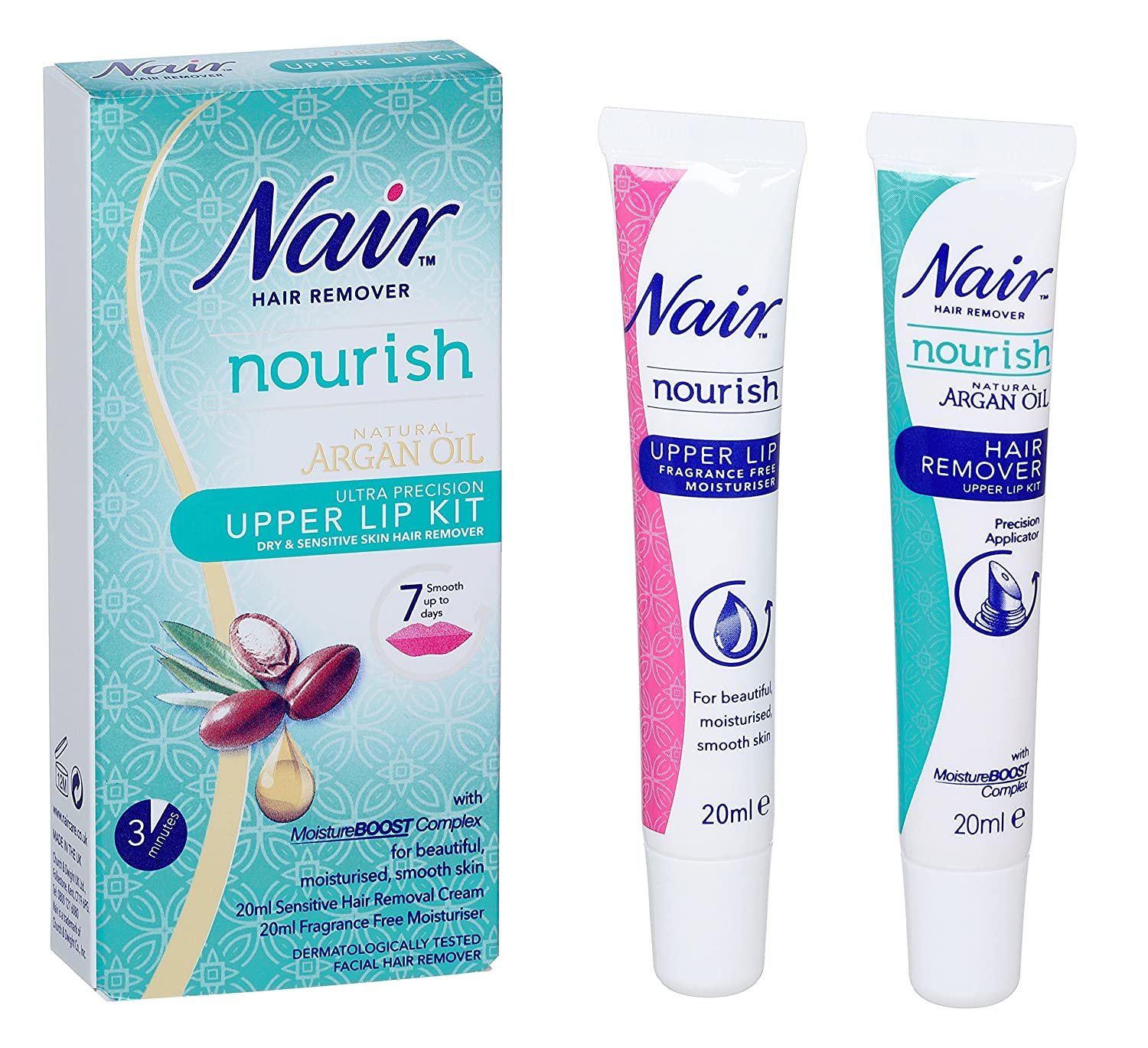 Nair - Natural Argan Oil - Upper Lip Kit - 20ml 503038