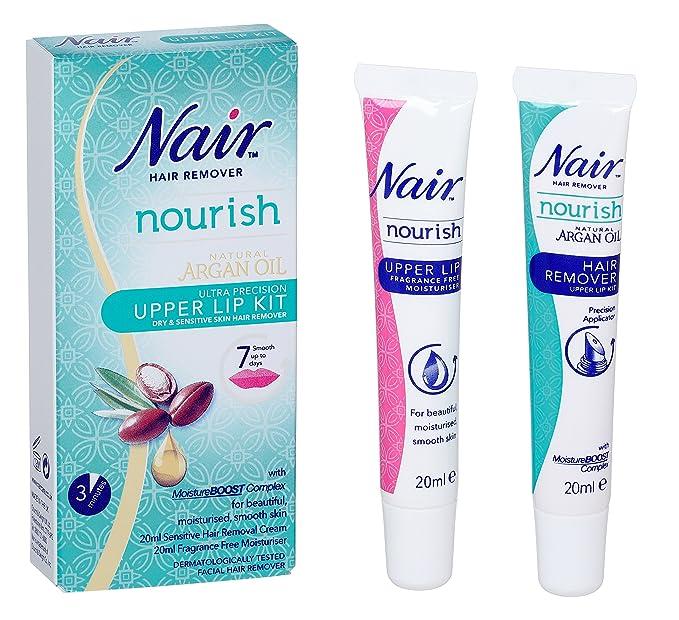 Nair Hair Remover Natural Argan Oil Upper Lip Kit 20ml Amazon