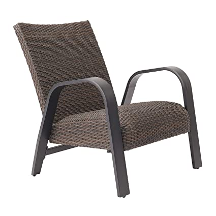 Amazon.com: Aromzen Layken 2-Piece Patio Wicker Lounge Chair ...