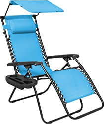 Zero Gravity Lounge Chair with Cupholder and Canopy