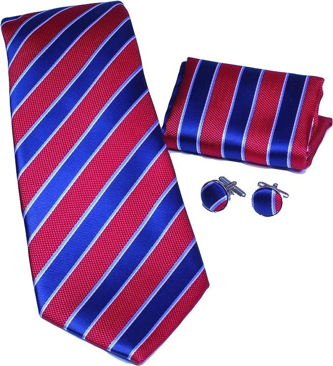100/% seda en la caja de regalo! rojo//negro rayas MONETTI Set de Corbata
