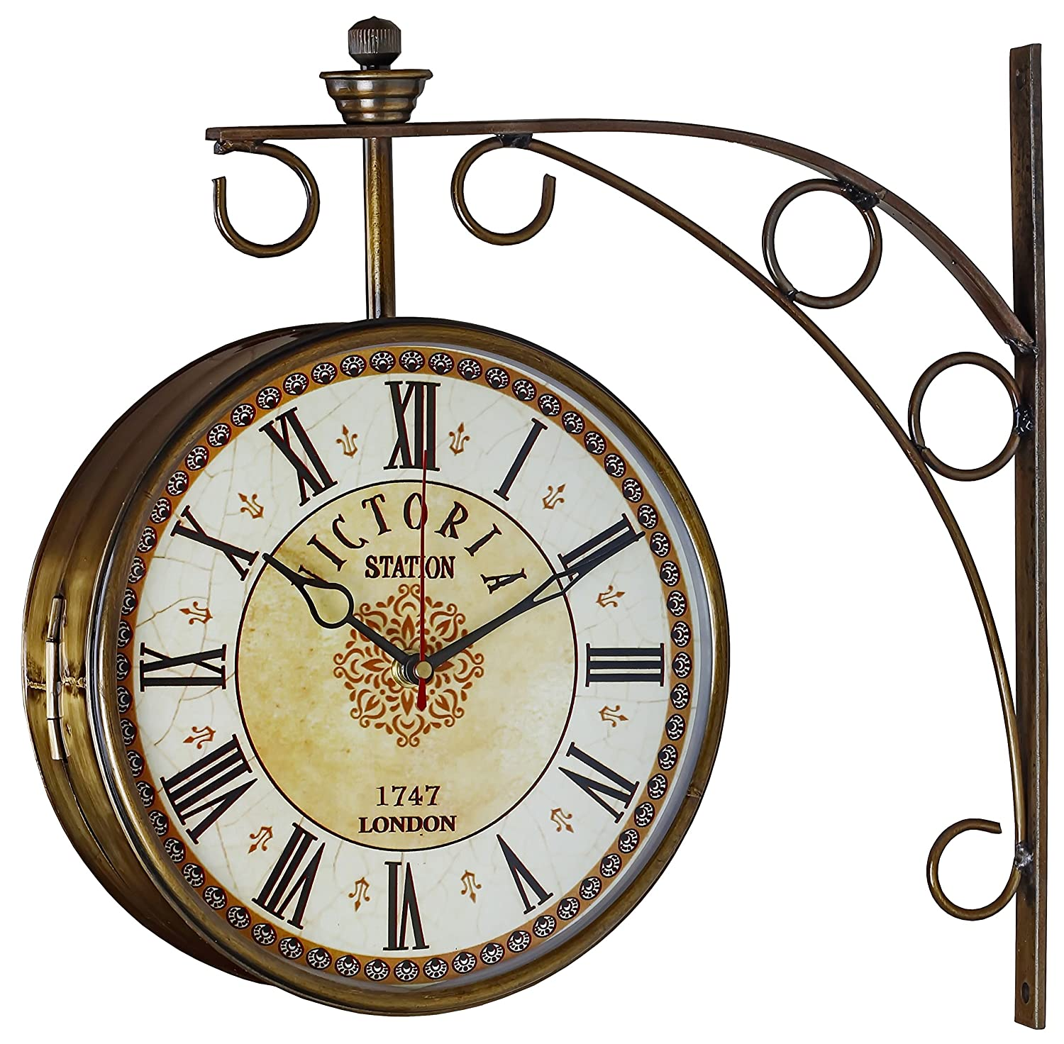 wall clocks outside wall clocks modern brief side hanging double buy swagger 8 inches brass finish double sided victorian station