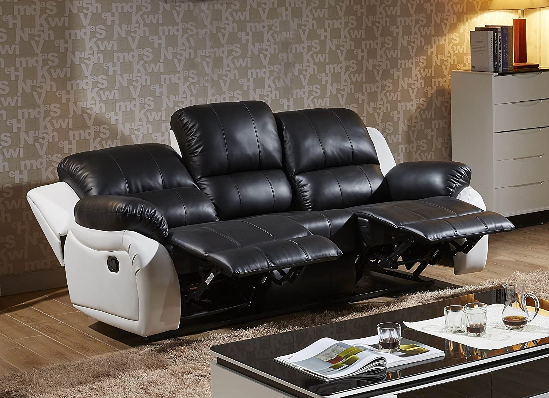 Polstermöbel leder  Voll-Leder Fernsehsessel Couch Sofa-Garnitur Relaxsessel ...